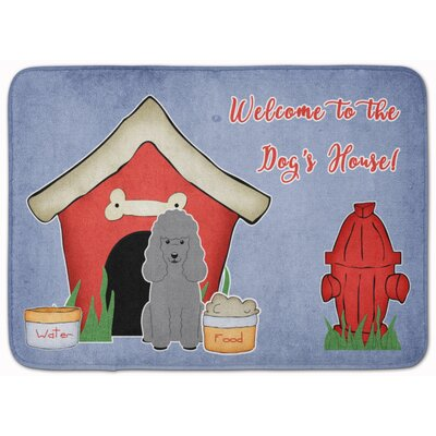 Dog House Poodle Memory Foam Bath Rug Color: Silver