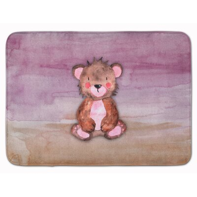 Bear Cub Watercolor Memory Foam Bath Rug
