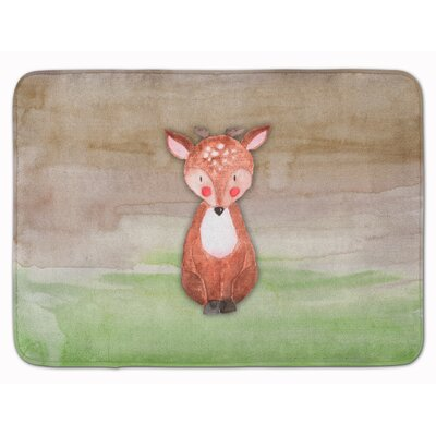 Beverley Baby Deer Watercolor Memory Foam Bath Rug