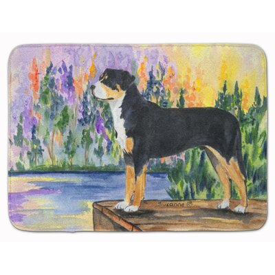 Greater Swiss Mountain Dog Memory Foam Bath Rug
