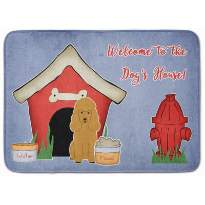 Dog House Poodle Memory Foam Bath Rug Color: Tan