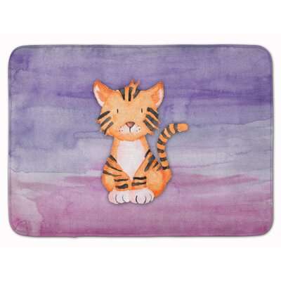 Delaney Tiger Cub Watercolor Memory Foam Bath Rug
