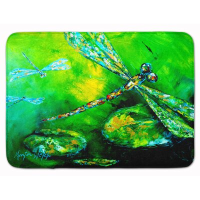Dragonfly Summer Flies Memory Foam Bath Rug