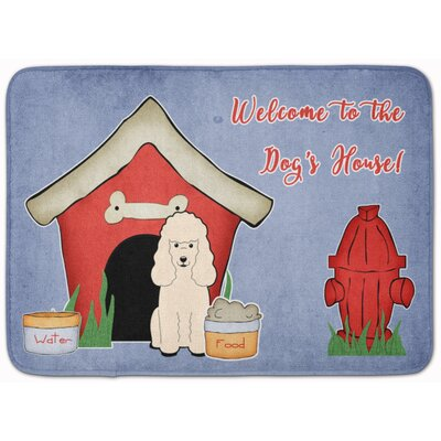 Dog House Poodle Memory Foam Bath Rug Color: White