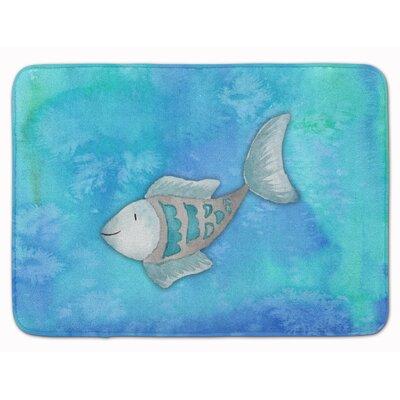 Fish Watercolor Memory Foam Bath Rug