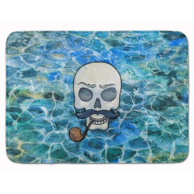 Skeleton Skull Pirate Memory Foam Bath Rug