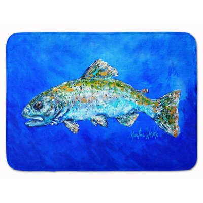 Fish Headed Downstream Memory Foam Bath Rug