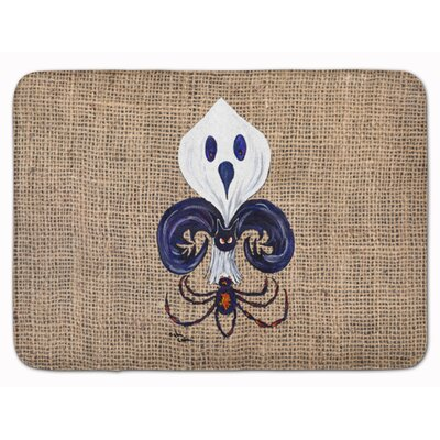 Halloween Ghost Spider Bat Fleur de lis Memory Foam Bath Rug