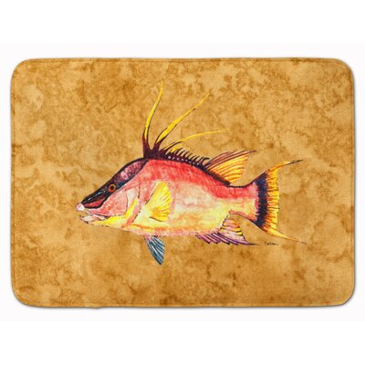 Bowmore Snapper Hog on Memory Foam Bath Rug