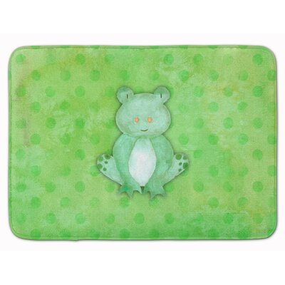 Frog Watercolor Memory Foam Bath Rug