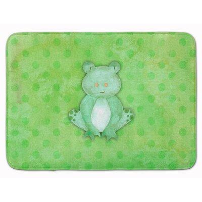 Frog Watercolor Memory Foam Bath Rug