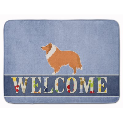 Collie Welcome Memory Foam Bath Rug