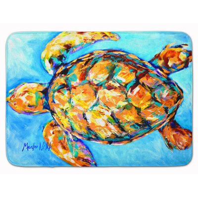 Sand Dance Turtle Memory Foam Bath Rug