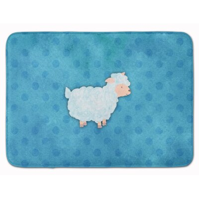 Sheep Lamb Watercolor Memory Foam Bath Rug