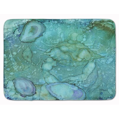 Abstract Crabs and Oysters Memory Foam Bath Rug