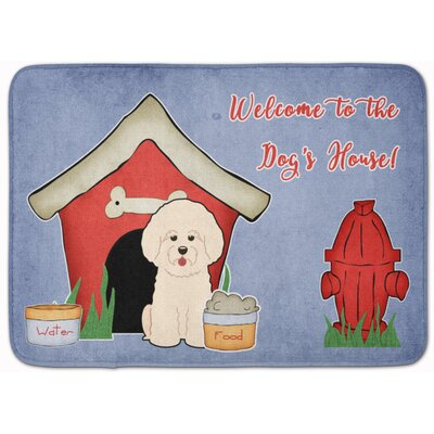Dog House Bichon Frise Memory Foam Bath Rug