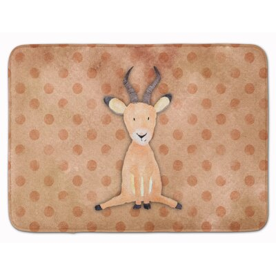 Antelope Watercolor Memory Foam Bath Rug