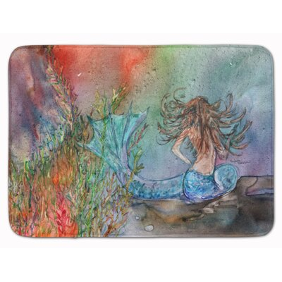 Brunette Mermaid Water Fantasy Memory Foam Bath Rug