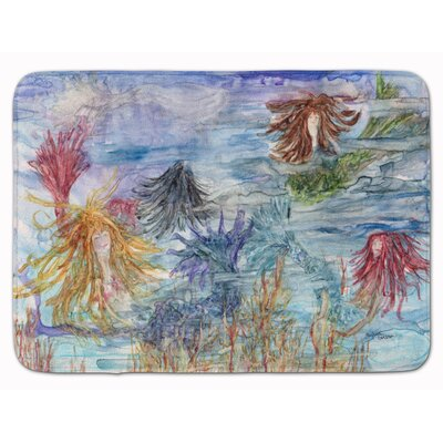 Abstract Mermaid Water Fantasy Memory Foam Bath Rug
