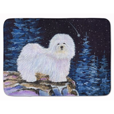 Starry Night Coton de Tulear Memory Foam Bath Rug