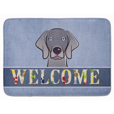 Weimaraner Welcome Memory Foam Bath Rug