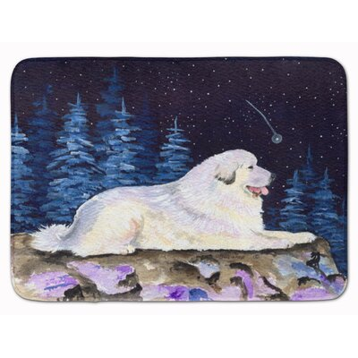Starry Night Great Pyrenees Memory Foam Bath Rug