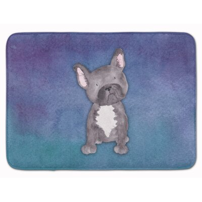 French Bulldog Watercolor Memory Foam Bath Rug