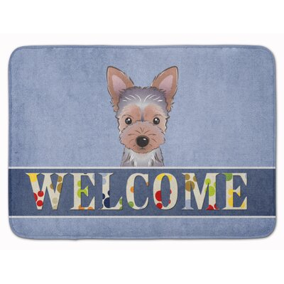 Yorkie Puppy Welcome Memory Foam Bath Rug
