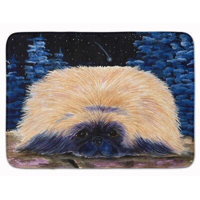 Starry Night Pekingese Memory Foam Bath Rug