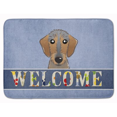 Wirehaired Dachshund Welcome Memory Foam Bath Rug