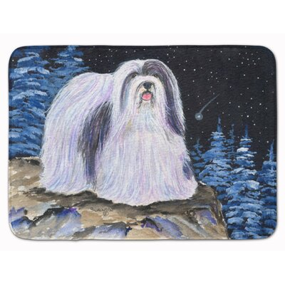 Starry Night Havanese Memory Foam Bath Rug