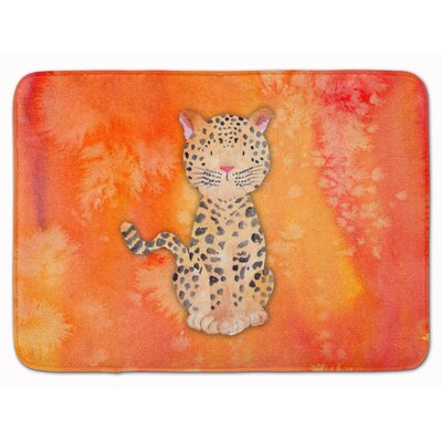 Leopard Watercolor Memory Foam Bath Rug