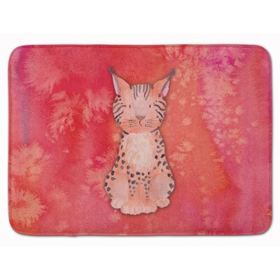 Lynx Watercolor Memory Foam Bath Rug