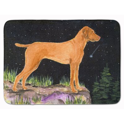 Starry Night Vizsla Memory Foam Bath Rug