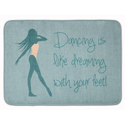 Dancing is Like Dreaming #2 Memory Foam Bath Rug Color: Blue