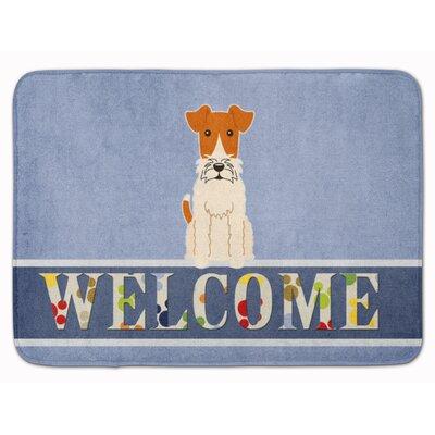 Welcome Wire Fox Terrier Memory Foam Bath Rug