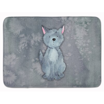 Wolf Watercolor Memory Foam Bath Rug