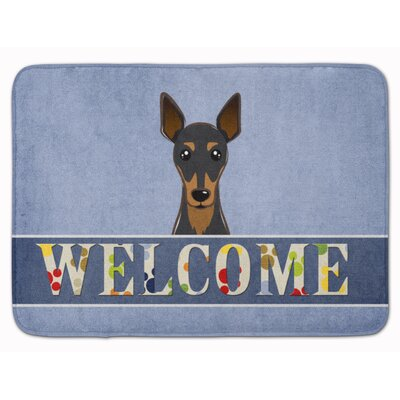 Oxford Min Pin Welcome Memory Foam Bath Rug