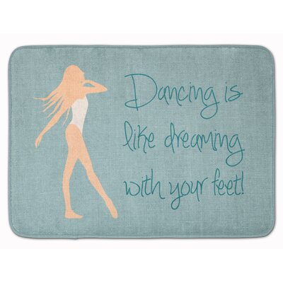 Dancing is Like Dreaming #2 Memory Foam Bath Rug Color: Cream