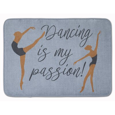 Dancing is My Passion Memory Foam Bath Rug