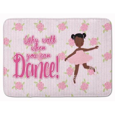 Ballet African American Pigtails Memory Foam Bath Rug