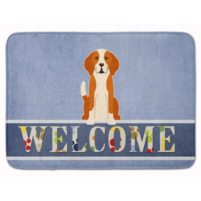 English Foxhound Welcome Memory Foam Bath Rug