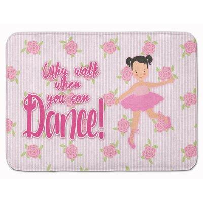 Ballet Pigtails Memory Foam Bath Rug