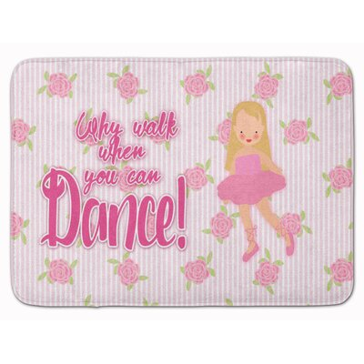 Ballet Long Blonde Hair Memory Foam Bath Rug