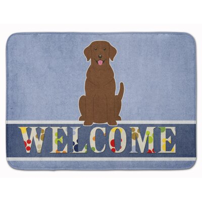 Kildare Labrador Welcome Memory Foam Bath Rug