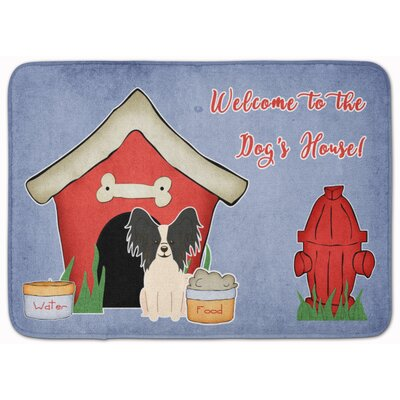 Dog House Papillon Memory Foam Bath Rug Color: Black/White