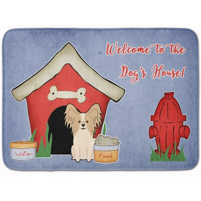 Dog House Papillon Memory Foam Bath Rug Color: White