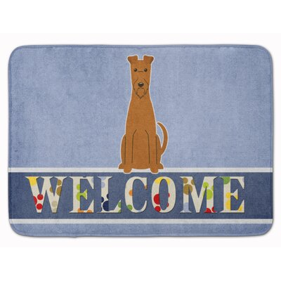 Irish Terrier Welcome Memory Foam Bath Rug