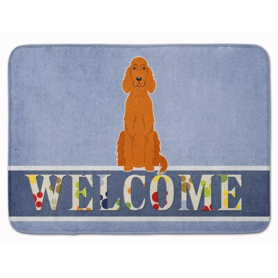 Irish Setter Welcome Memory Foam Bath Rug