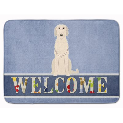 Jasper Irish Wolfhound Welcome Memory Foam Bath Rug